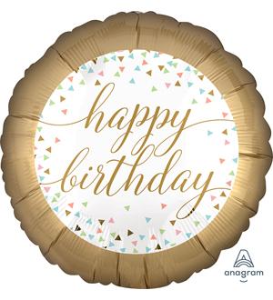 Pastel Confetti Birthday Balloon