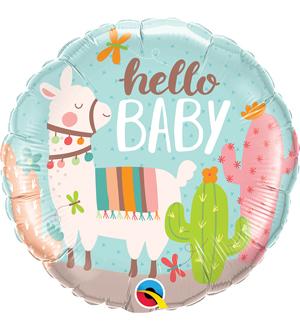 Hello Baby Llama Balloon