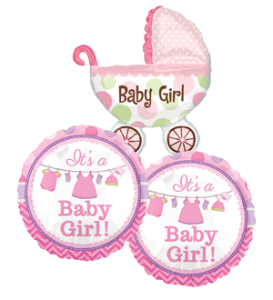It\'s a Girl Balloon Bundle