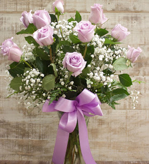Unforgettable Dozen Rose Lavender