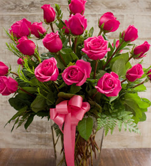 Two Dozen Rose Pink