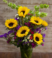 Premium Sunflower Arrangement