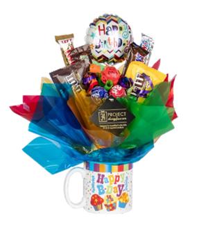 Happy Birthday Mug Candy Bouquet
