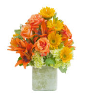 Textured Sunset Vase