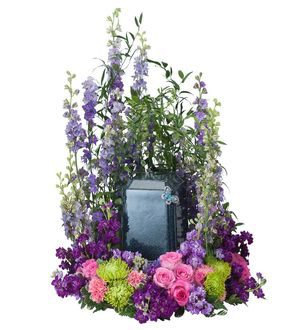 Forever Cherished Blue Urn Surround