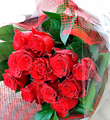 Romantic Bouquet of 12 Red Roses