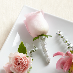 The FTD® Pink Rose Boutonniere