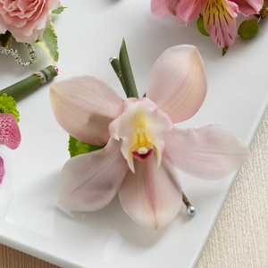 The FTD® Pink Cymbidium Boutonniere