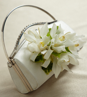 The FTD® White Purse Décor