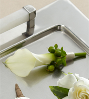 The FTD® White Calla Boutonniere
