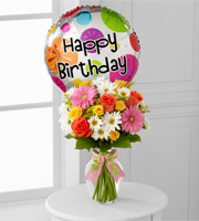 The FTD® Birthday Cheer™ Bouquet with Mylar Balloon